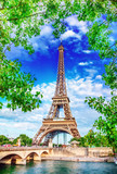 Fototapeta Wieża Eiffla - Eiffel Tower © adisa