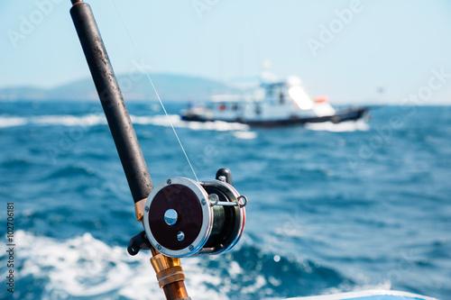 Fishing trolling in the Andaman Sea Poster