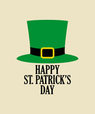 Simple graphic of leprechaun green hat
