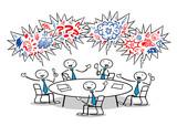 Fototapety Cartoon Business Leute fluchen im Meeting