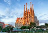 BARCELONA, HISZPANIA - 10 LUTY: La Sagrada Familia - imponujące
