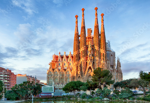BARCELONA, SPAIN - FEBRUARY 10: La Sagrada Familia - the impress Poster