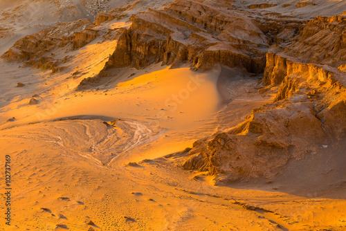 In de dag Oranje eclat Salt Mountain Range (Cordillera de la Sal), San Pedro de Atacama (Chile)