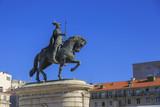 King Jose I statue near Lisbon Story Center at sunny day