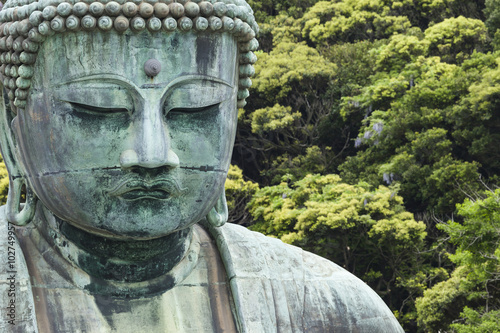 Poster The Great Buddha (Daibutsu) on the grounds of Kotokuin Temple in