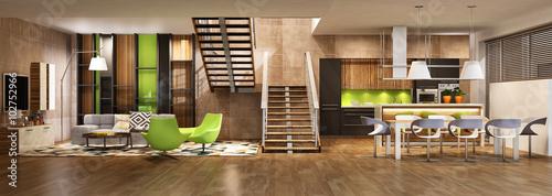 Modern house interior - 102752966