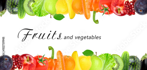 Color fruits and vegetables