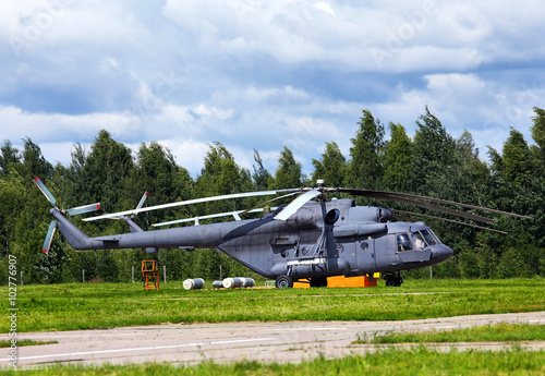 Poster Russian transport helicopter