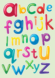 Font design with english alphabets