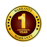 Warranty logo. One Year Warranty Design isolated on white background.