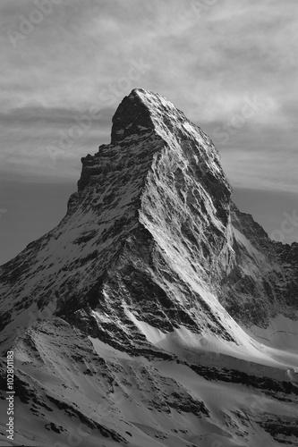 Poster Mountain Matterhorn at dusk, Zermatt, Switzerland