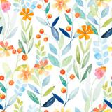 Fototapety Botanical seamless pattern