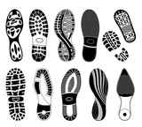 A collection of various highly detailed shoe tracks. Elegant, sporty formal and mountain boots are included.