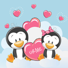 Two Cute Penguins