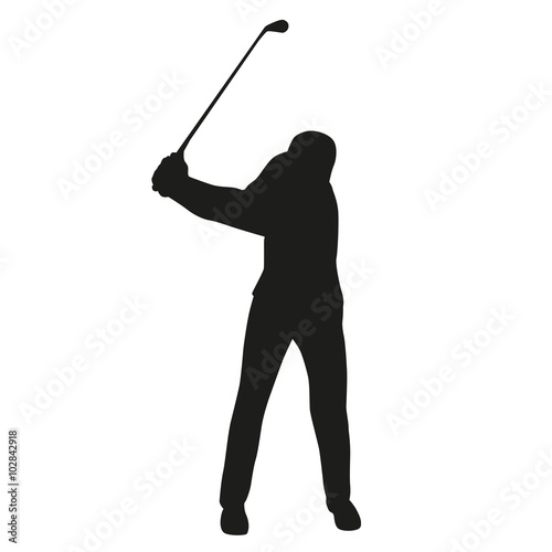 """Golf swing, golf player isolated silhouette, vector golfer"""" Imágenes ..."""