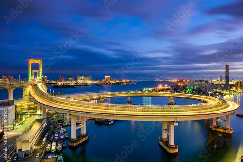 Plagát, Obraz Rainbow Bridge Tokyo