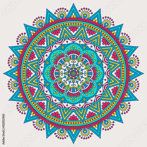 Vector indian Mandala - 102852960