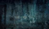 Stimmungsvolles Gemälde in Blautönen
