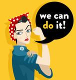 we can do it feminist girl - 102879521