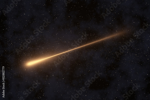 Shooting Star & Stars Background