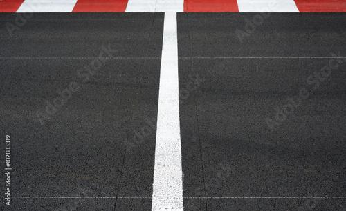 Plexiglas F1 Start and Finish race line asphalt Grand Prix circuit