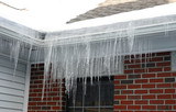 Fototapety icicle hanging on house roof