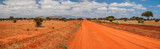 Red road in Tsavo East National Park, Kenya
