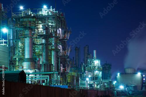 Poster 京浜地区・川崎の工場の夕景・夜景