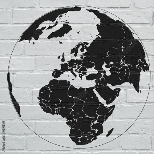 Planisphère street art Poster
