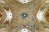 Beautiful ceiling of Agha Bozorg Mosque in Kashan, Iran