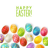Fototapety Easter greeting card with color eggs