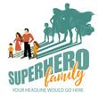 Superhero Family design EPS 10 vector