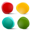 Abstract Vector Circle Red Orange Blue and Green Colorful Shapes Set Isolated on White Background - 102924335