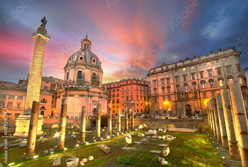 Fototapeta Rome Sunset