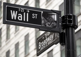 Fototapety Wall Street sign in New York city, USA.