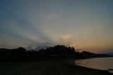 Zachód słońca nad jeziorem czorsztyńskim