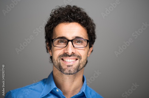 Closeup portrait of a smiling man.