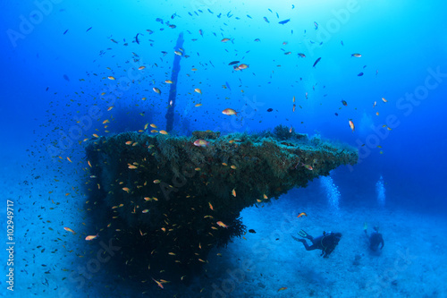 Aluminium Schipbreuk Fesdu shipwreck in the indian ocean
