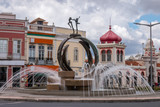 Outdoor view of the water fountain of the city of Loule, Portugal.