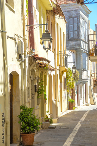 Traditional buildings in Chania, Crete