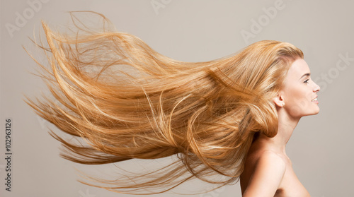 canvas print picture Amazing flowing hair.