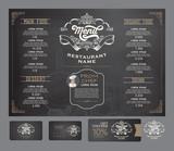 Fototapety Restaurant menu template.
