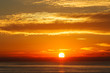 Beautiful Sunset over the Pacific Ocean, California