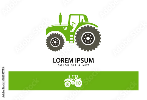 Poster Tractor Logo Vector