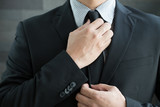 Businessman in suit and tie necktie