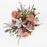 Fototapety Orchids and Anthurium wedding bouquet