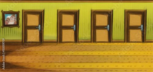 Zdjęcia na płótnie, fototapety, obrazy : Cartoon stage - for different usage - illustration for the children
