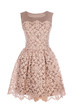 lace retro dress isolated on white background