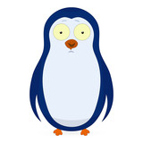 Vector abstract cute pinguin on a white
