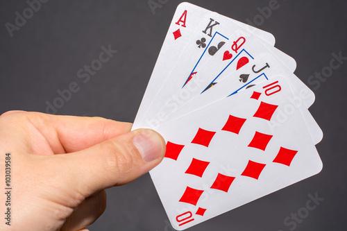 Poster Die Hand der Hände beim Pokern